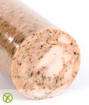 Productfoto grillworst met darm pesto